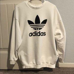 White Adidas Sweatshirt